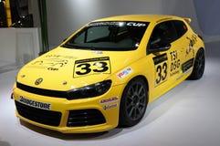 Gelbe Porzellancup des Volkswagen-Scirocco Ausgabe Stockfoto