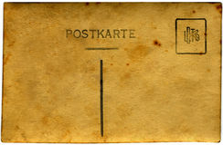 Gelbe Postkarte   Lizenzfreie Stockfotos