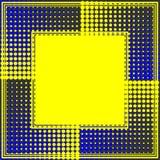 Gelbe Punktgrenze Stockfoto