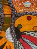 Gelbe, rote und grüne Abstraktion Stockfoto