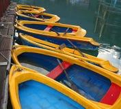 Gelbe Rowboats stockbild