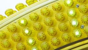 Gelbe Rummelplatzlichtdetails Lizenzfreie Stockfotografie