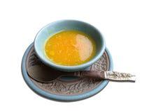Gelbe saure Soße Stockfoto