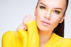 Gelbe Schönheit Stockfotografie