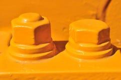 Gelbe Schrauben Lizenzfreies Stockfoto