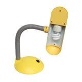 Gelbe Schreibtischlampe lokalisiert über weißem Hintergrund Stockfoto