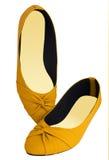 Gelbe Schuhe Lizenzfreies Stockfoto