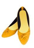 Gelbe Schuhe der Art und Weise Lizenzfreies Stockbild