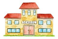 Gelbe Schule des Aquarells Stockbilder