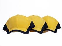 Gelbe Schutzkappen Stockfotografie