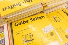 Gelbe Seiten Stock Photos