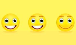 Gelbe smiley Lizenzfreies Stockfoto