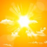 Gelbe Sonne und Wolke