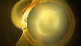 Gelbe Sonnenflamme kreist abstrakten Hintergrund ein Lizenzfreie Stockbilder