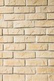 Gelbe Steinwand Lizenzfreie Stockbilder