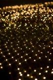Gelbe Stern-Form-Lichteffekt Stockfoto