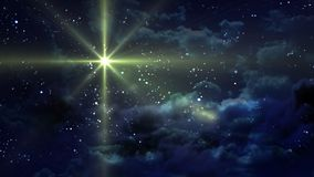 Gelbe sternenklare Nacht Stockfoto