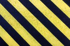 Gelbe Straßenmarkierung Lizenzfreies Stockfoto