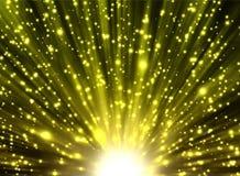 Gelbe Strahlen und Sterne vektor abbildung