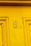 Gelbe Tür Stockbild