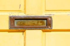 Gelbe Tür Stockfoto