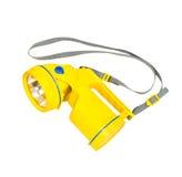 Gelbe Taschenlampe Lizenzfreie Stockfotografie