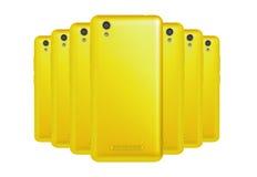 Gelbe Telefone stockfotos