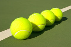 Gelbe Tennisbälle - 13 Lizenzfreies Stockbild