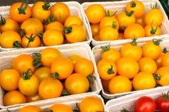 Gelbe Tomaten vom Markt Lizenzfreie Stockfotografie