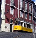 Gelbe Tram, Lissabon, Portugal Stockfotos