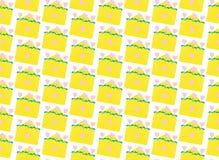 Gelbe Umschläge des Musters Flache Illustration vektor abbildung