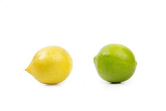 Gelbe und grüne Zitronen Stockbilder