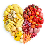 Gelbe und rote gesunde Nahrung Lizenzfreie Stockfotografie