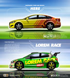 Gelbe und rote Limousine Digital-Vektors Stockfotografie