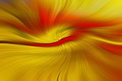 Gelbe und rote Linien, die in Raum tanzen Stockfotografie