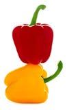 Gelbe und rote Pfeffer Stockfotografie