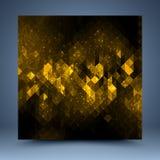 Gelbe und schwarze abstrakte Schablone Stockbilder