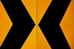 Gelbe und schwarze Markierung Stockfoto