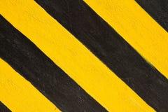 Gelbe und schwarze Zeile Lizenzfreies Stockbild