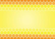 gelbe und weiße Bienenwabenzusammenfassung geometrisch Stockfotografie