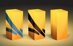 Gelbe verpackenkästen Lizenzfreie Stockfotos