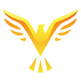 Gelbe Vogel-Ikone Stockfoto