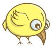 Gelbe Vogelkarikatur Lizenzfreie Stockfotos