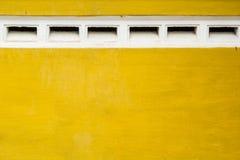 Gelbe Wände Stockbild