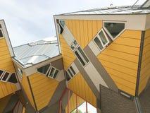 Gelbe Würfelhäuser Lizenzfreie Stockfotografie