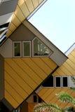 Gelbe Würfelhäuser in Rotterdam, Holland Stockbild