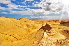 Gelbe Wüste. Stockbild