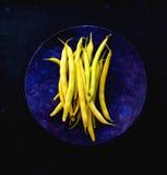Gelbe Wachs-Bohnen stockbild