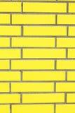 Gelbe Wand Lizenzfreies Stockfoto