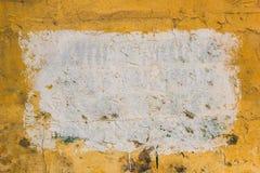 Gelbe Wand mit Formhintergrund Stockfotografie